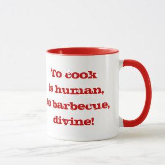 Para cozinhar é humano; para assar, divino! Caneca