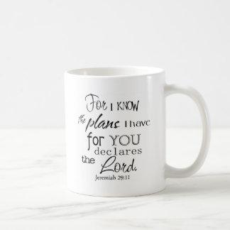 Para eu sei os planos que eu tenho para você caneca de café