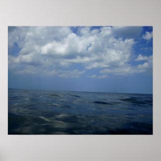 Para fora ao mar, poster da fotografia do oceano