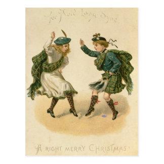 Para Lang Auld Syne - um Feliz Natal direito Cartão Postal