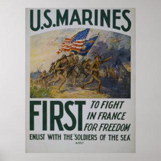 Para lutar primeiramente o poster do USMC