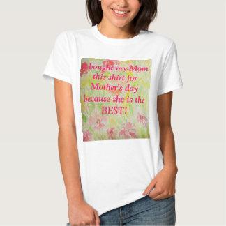 Para meu melhor Mama Amor do dia das mães do Camiseta