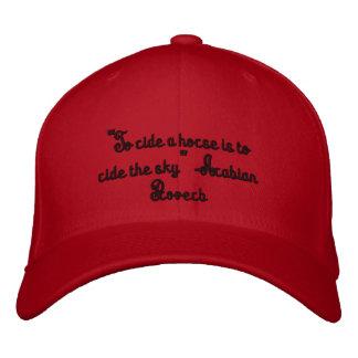 Para montar um cavalo é montar o chapéu do céu boné bordado