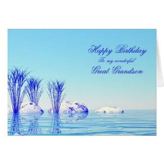 Para o excelente - neto, um cartão de aniversário