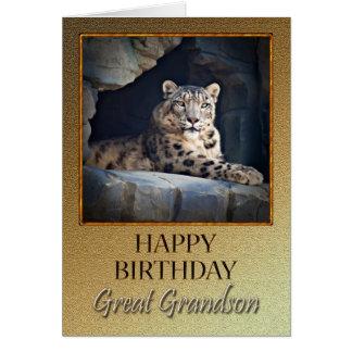 Para o excelente - neto um o aniversário com um cartão comemorativo
