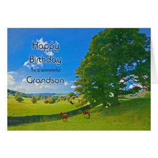Para o neto, um cartão de aniversário pastoral da