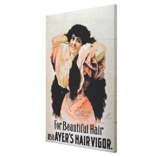 """""""Para o vigor do cabelo de Ayer bonito do uso do c Impressão De Canvas Esticada"""