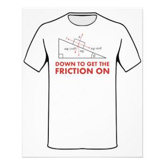 Para obter para baixo a fricção no diagrama da flyer 11.43 x 14.22cm