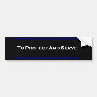 """""""Para proteger e servir """" Adesivo Para Carro"""