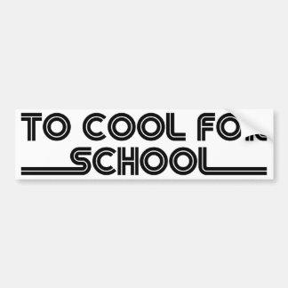 Para refrigerar para a escola adesivo para carro