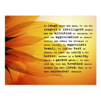 """""""Para rir frequentemente…"""" Cartão de Ralph Waldo E Cartoes Postais"""