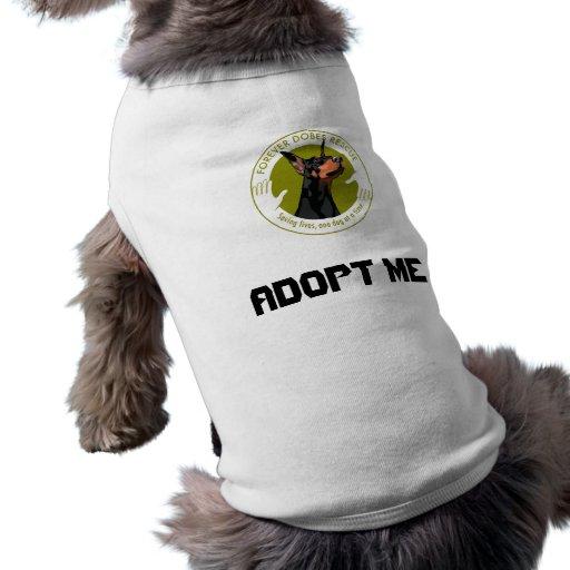 Para sempre camisetas da adopção de Dobes Roupas Para Pets