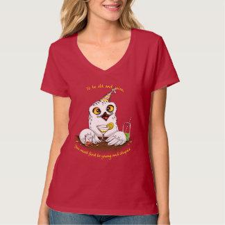 Para ser coruja velha e sábia camiseta