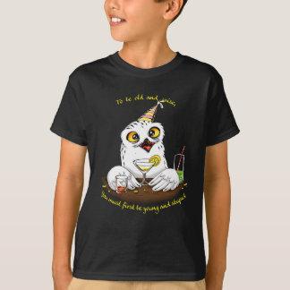 Para ser coruja velha e sábia camisetas