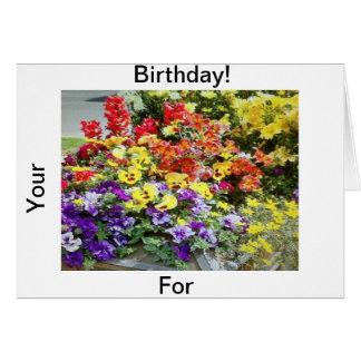 Para seu aniversário! cartão comemorativo
