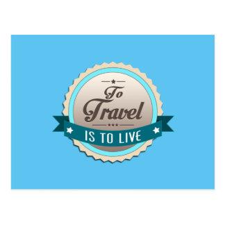 Para viajar é viver cartão postal