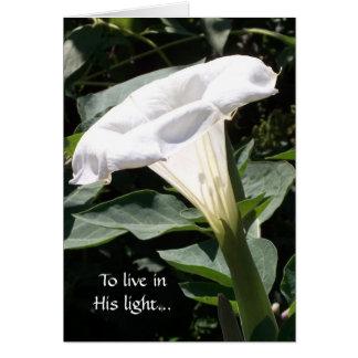 Para viver em sua luz cartão comemorativo