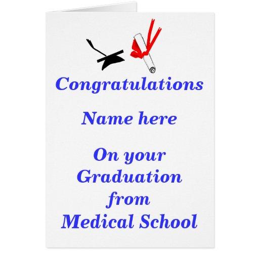 Parabéns da graduação da Faculdade de Medicina Cartão