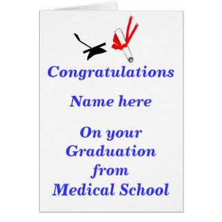 Parabéns da graduação da Faculdade de Medicina Cartão Comemorativo
