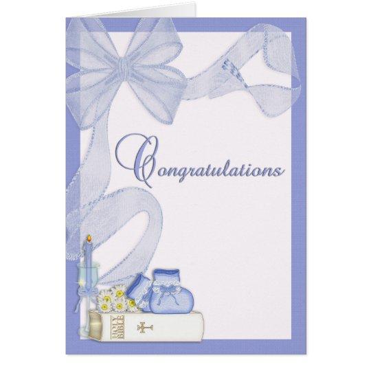Parabéns do baptismo do batismo cartão