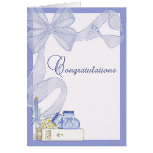 Parabéns do baptismo do batismo cartão de nota