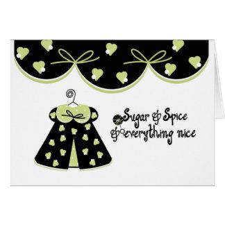 Parabéns do bebê do açúcar e da especiaria cartão
