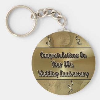 Parabéns em seu 50th aniversário de casamento chaveiros