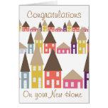 Parabéns em sua casa nova cartao