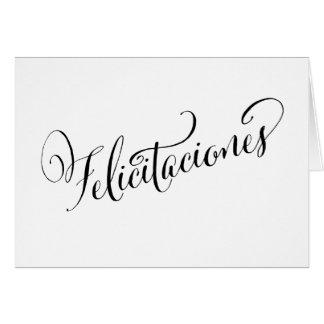 Parabéns espanhóis festivos Felicitaciones Cartão De Nota
