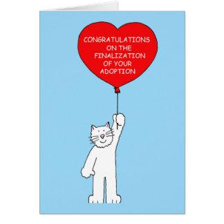 Parabéns no acabamento de sua adopção cartão comemorativo
