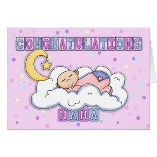 Parabéns novos do bebé de Nana Cartão Comemorativo