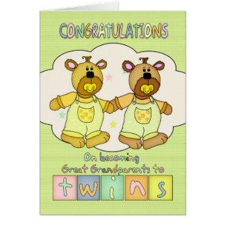 Parabéns novos para o excelente - avós do bebê - cartão comemorativo
