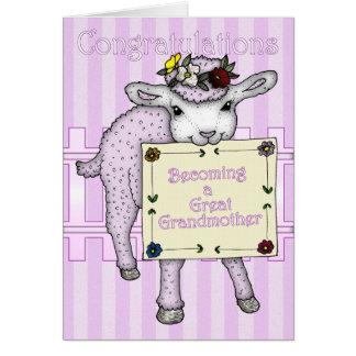 parabéns que transformam-se um excelente - avó cartão comemorativo