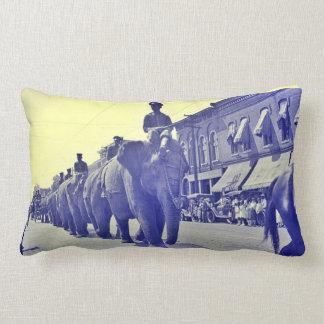 Parada 1920 do circo do elefante Little Rock Almofada Lombar