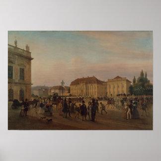 Parada antes do palácio real, 1839 poster