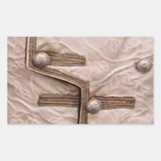 Parada da tira da forma - bordado do botão n adesivo retangular