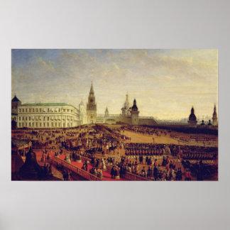 Parada militar durante a coroação de Alexander Poster