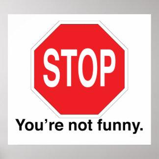 Parada você não é engraçado poster