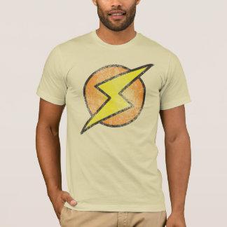 Parafuso de relâmpago, vintage camiseta