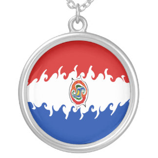 Paraguay Gnarly Flag Necklace
