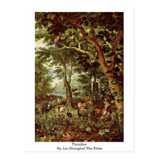 Paraíso daqui até janeiro Brueghel a pessoa idosa Cartão Postal