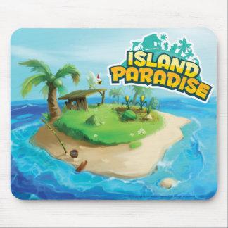 Paraíso Mousepad da ilha tapetes para ratos