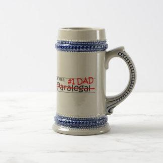 Paralegal do pai do trabalho caneca de cerveja