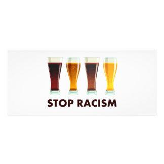 Pare a igualdade da cerveja do racismo do álcool 10.16 x 22.86cm panfleto