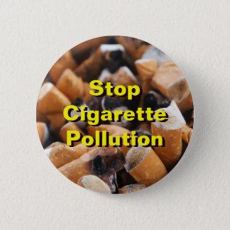 Pare a poluição do cigarro! bóton redondo 5.08cm