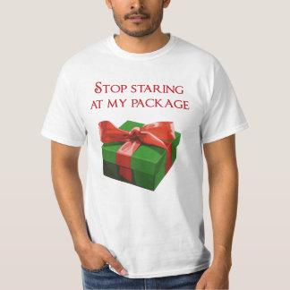 Pare de olhar fixamente em meu presente de Natal Camiseta