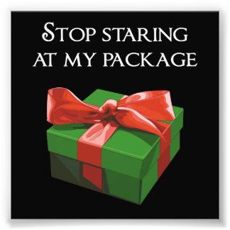 Pare de olhar fixamente em meu presente de Natal Impressão De Foto