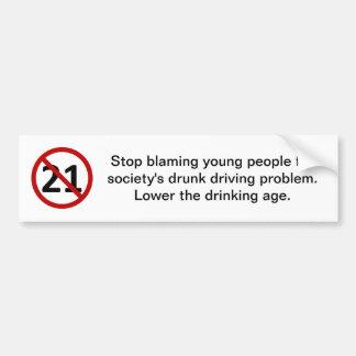 Pare de responsabilizar jovens adesivo para carro