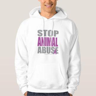 Pare o abuso animal moletom