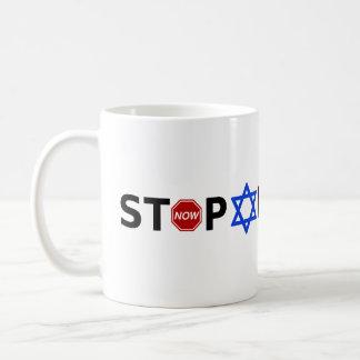 Pare o Apartheid agora Caneca